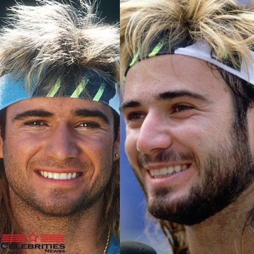 Andre Agassi Mullet Hairstyle