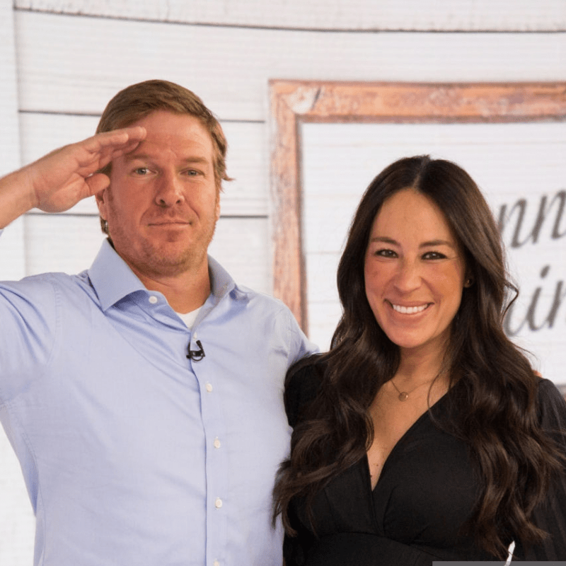 chip and Joanna Gaines silo